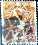 Stamps : America : Guatemala :  Intercambio 0,20 usd 2 cent. 1886