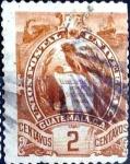 Stamps Guatemala -  Intercambio 0,20 usd 2 cent. 1886