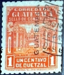 Stamps : America : Guatemala :  Intercambio 0,25 usd 1 cent. 1945