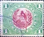 Sellos del Mundo : America : Guatemala :  Intercambio 0,20 usd 1 cent. 1902