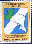 Sellos de America - Guatemala -  Intercambio 0,60 usd 30 cent. 1984