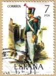 Sellos del Mundo : Europa : España : UNIFORMES - Batallon de artilleria a pie 1828