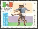 Stamps Laos -  Copa Mundial de Fútbol de 1986