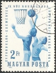 Stamps Hungary -  9th European Women's Basketball Championship-EuroBasket 1964 Mujeres