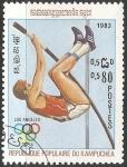 Stamps Cambodia -  Juegos Olimpicos Los Angeles 1984