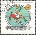 Sellos de Asia - Mongolia -  World football championship- Copa del mundo