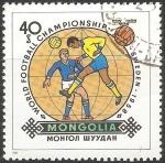 Sellos de Asia - Mongolia -  World football championship- Copa del mundo