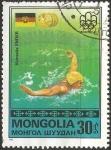 Sellos de Asia - Mongolia -  Kornelia Ender, East German flag
