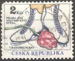 Stamps Czechoslovakia -  Campeonato Mundial de Patinaje Artístico en Praga 1993