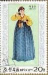 Stamps North Korea -  COREA NORTE 1977 Scott1560 Sello Trajes Típicos Estacionales Dinastia Li Otoño M-1602