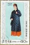 Stamps Asia - North Korea -  COREA NORTE 1977 Scott1561 Sello Trajes Típicos Estacionales Dinastia Li Invierno M-1603