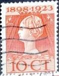 Sellos de Europa - Holanda -  Intercambio 0,20 usd  10 cent. 1923