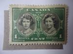 Stamps Canada -  Princess Elizabeth - Princess Margaret Rose.