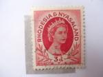Stamps Malawi -  Queen Elizabeth II - Rhodessia y Nyasaland.