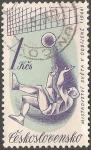 Sellos de Europa - Checoslovaquia -  Campeonato mundial de hockey hielo en 1966