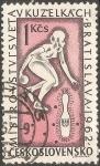 Sellos de Europa - Checoslovaquia -  Woman bowler