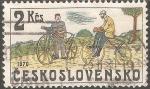 Sellos de Europa - Checoslovaquia -  Bicicletas 1870