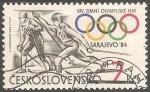 Sellos de Europa - Checoslovaquia -  Juegos Olímpicos de Sarajevo 1984