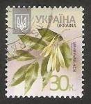 Stamps Ukraine -  Flor fraxinus excelsior