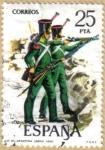 Stamps Spain -  UNIFORMES - Infanteria ligera 1830