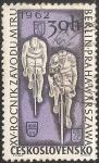Sellos de Europa - Checoslovaquia -  Ciclistas