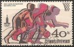 Stamps Czechoslovakia -  Juegos Olímpicos de Moscú 1980