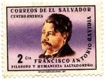 Sellos de America - El Salvador -  FILISOFO Y HUMANISTA SALVADOREÑO