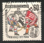 Sellos de Europa - Checoslovaquia -  Campeonato mundial de hockey hielo en 1972