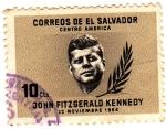 Stamps El Salvador -  JOHN FITZGERALD KENNEDY