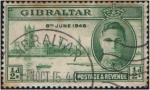 Stamps Gibraltar -  Aniv. Final de la 2ª Guerra Mundial