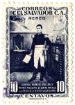 sellos de America - El Salvador -  PRIMER PRESIDENTE DE CENTROAMERICA GENERAL MANUEL JOSE ARCE Y FUNDADOR DEL EJERCITO SALVADOREÑO