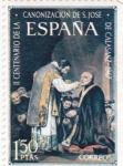 Stamps : Europe : Spain :  canonización San José de Calasanz (22)