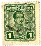 Sellos de America - El Salvador -  CAPITAN GENERAL GERARDO BARRIOS
