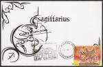 Sellos de Asia - India -  Sagitario, signo del Zodiaco