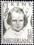 Stamps Netherlands -  Intercambio nfxb 0,50 usd 1,5+1,5 cent. 1946