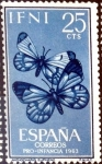 Stamps Spain -  Intercambio jxi 0,25 usd 25 cent. 1963