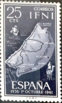 Stamps Spain -  Intercambio jxi 0,20  usd 25 cent. 1961