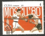 Stamps Cuba -  Summer Olympics 1980, Moscow-boxen