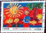 Stamps : Asia : India :  Intercambio crf 0,50 usd 20 p. 1973