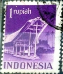 Stamps : Europe : Netherlands :  Intercambio 0,20 usd 1 rupia 1949