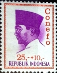 Stamps : Asia : Indonesia :  Intercambio 0,20 usd 25+10 rupia 1965