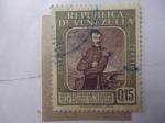 Sellos de America - Venezuela -  140º Aniversario de la Muerte del General José Antonio Anzoategui 1819-1959.