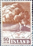 Stamps : Europe : Iceland :  Intercambio crxf2 0,25 usd 50 a. 1948