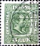 Stamps : Europe : Iceland :  Intercambio jxa 1,40 usd 5 a. 1907