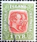 Stamps : Europe : Iceland :  Intercambio jxa 1,25 usd 1 e. 1907