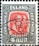 Stamps : Europe : Iceland :  Intercambio jxa 1,90 usd 4 a. 1907