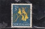 Sellos del Mundo : Oceania : Nueva_Zelanda : flores- kowhai