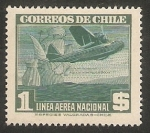 Sellos de America - Chile -  Barco de vela