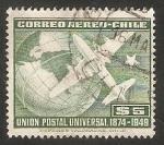 Stamps Chile -  75 Anivº de Unión Postal Universal