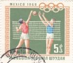 Sellos de Asia - Mongolia -  Olimpiada México-68